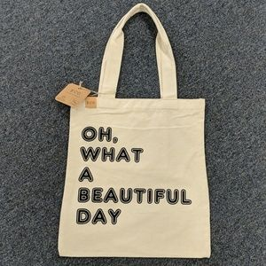 Recycled day tote - Oh, What a beautiful day